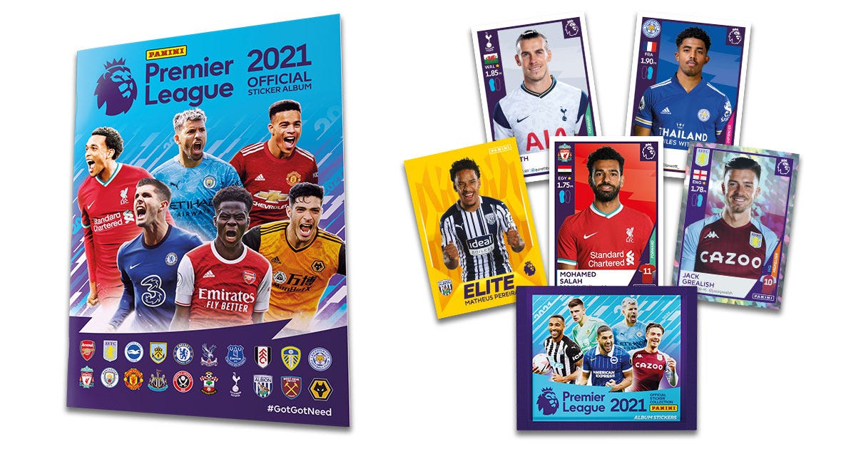 Panini Premier League Official Sticker Collection 2021 - Panini