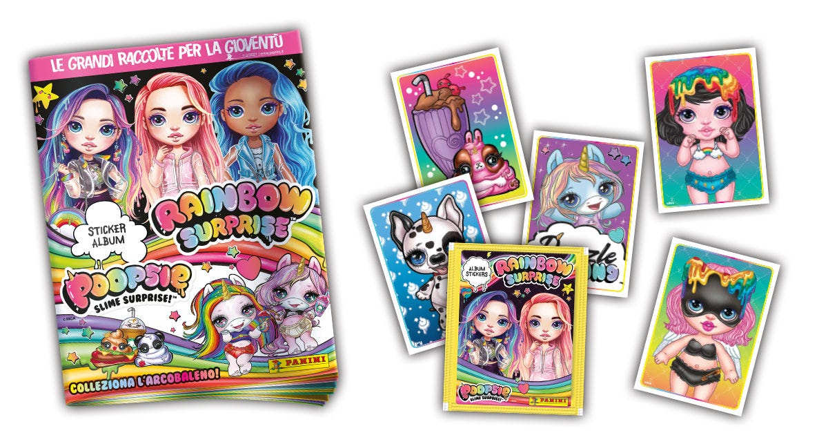 Poopsie and Rainbow Surprise sticker collection - Panini