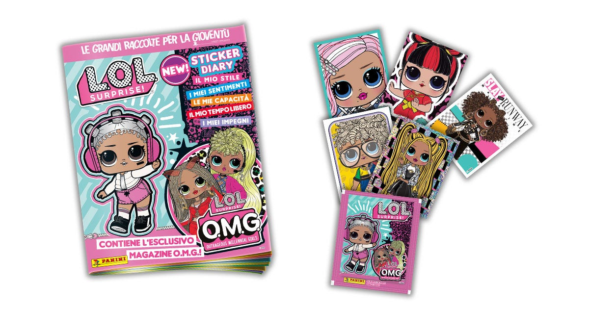 "L.O.L. SURPRISE ""O.M.G."" Sticker&Card collection - Panini -immagine cover-"
