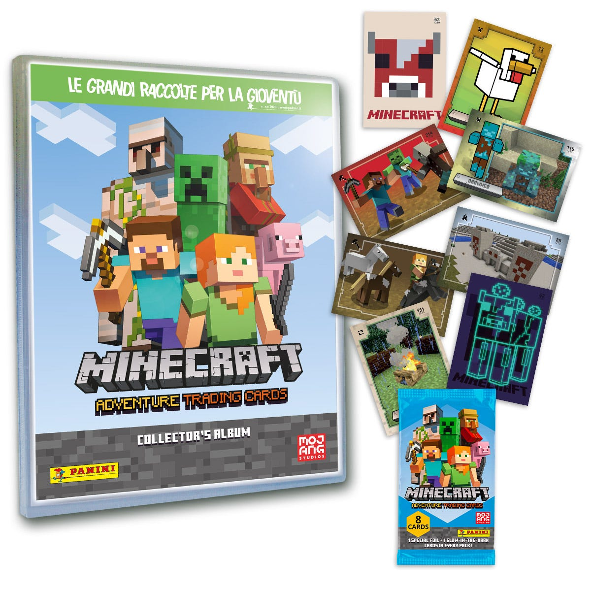 Minecraft Adventure Trading Card collection - Panini