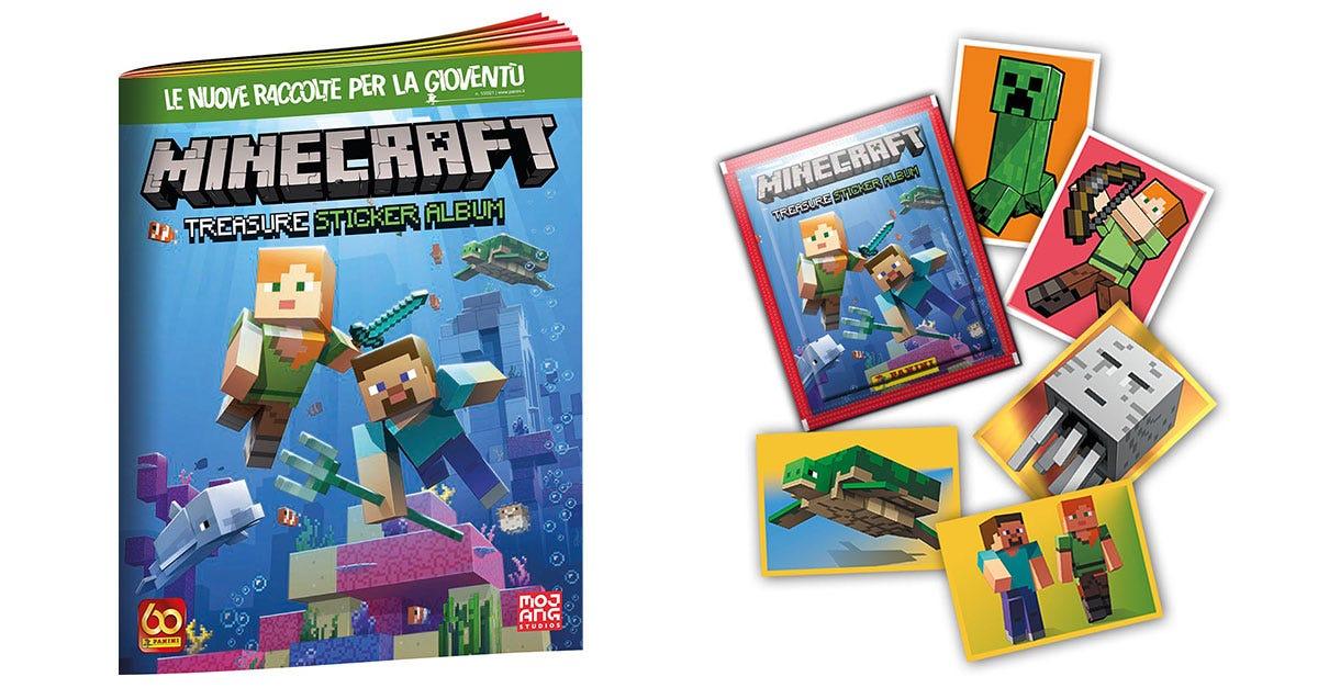 Minecraft Treasure Sticker Album - Panini