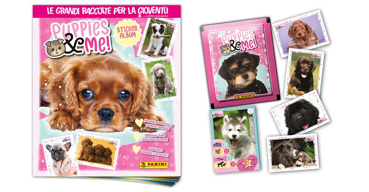 Puppies & Me sticker & card collection - Panini