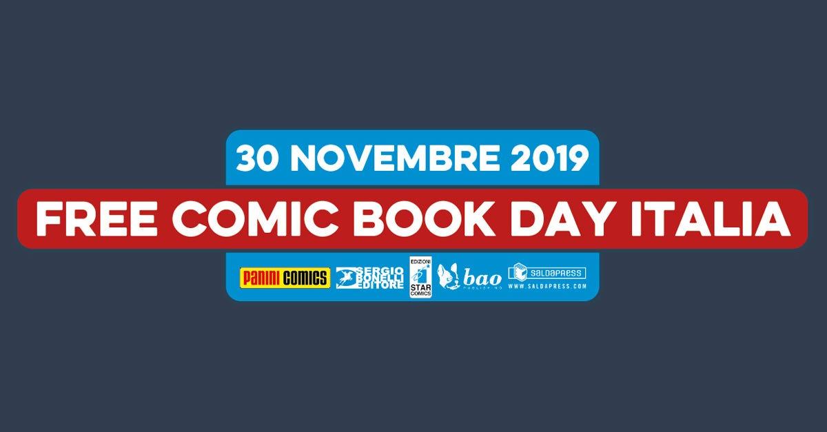 30 novembre 2019 FREE Comic Book day Italia