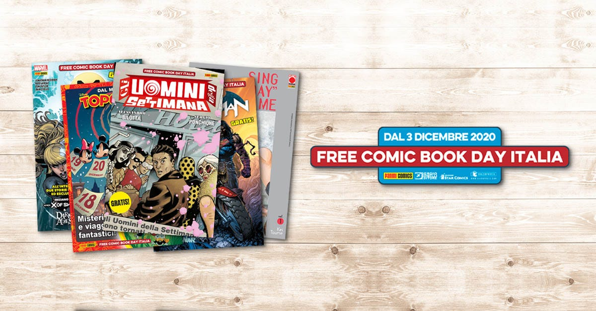 3 dicembre FREE Comic Book day Italia