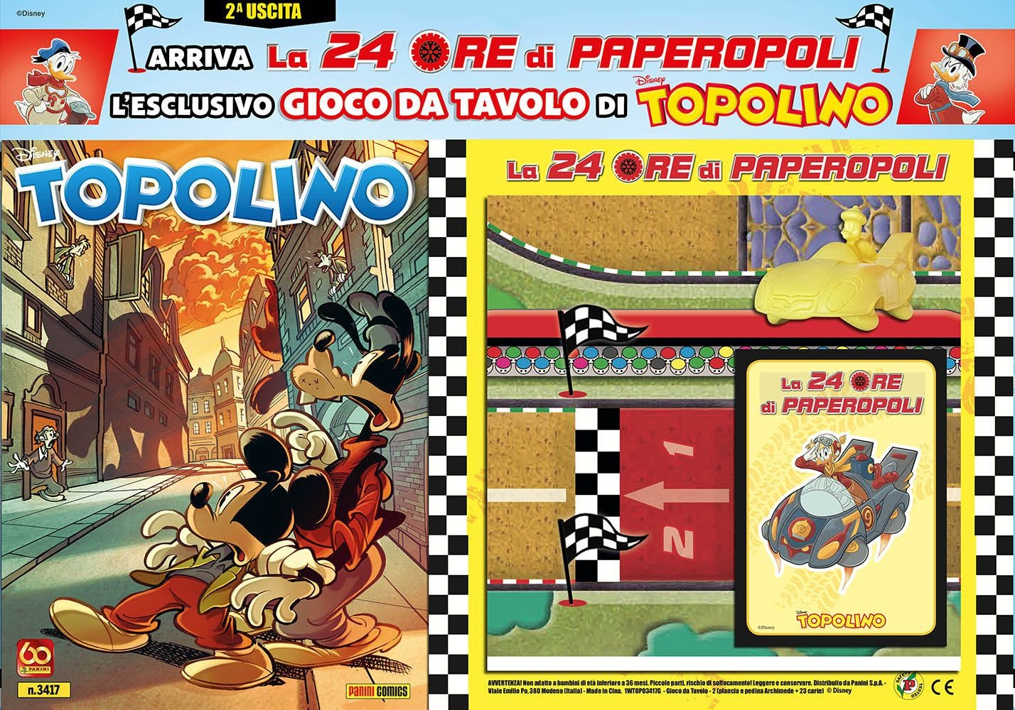 Topolino 3417 con gadget Topolino magazines
