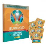 Album cartonato di UEFA Euro 2020™ Tournament Edition Official Sticker Collection più 5 bustine