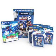 """Super Pack Captain Tsubasa DELUXE 1 - 1 starter pack + 5 multiset + videogame """"Captain Tsubasa"""" Playstation 4"""