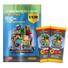 Super Starter Pack MINECRAFT Adventure Trading Card - 1 Starter Pack + 2 Fatpack