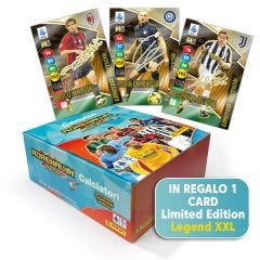 CALCIATORI ADRENALYN XL 2021-22 BOX DA 50 BUSTINE CON CARD LIMITED EDITION LEGEND FIRMATA FORMATO XXL