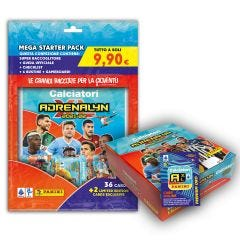 CALCIATORI ADRENALYN XL 2021-22 BOX DA 24 CON STARTER PACK E ONLINE COIN CARD PANINI ESCLUSIVA