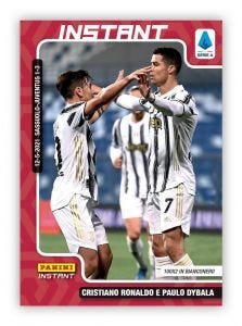 PANINI INSTANT – CARD CALCIATORI 2020-21 #22 – RONALDO E DYBALA - 100x2 IN BIANCONERO