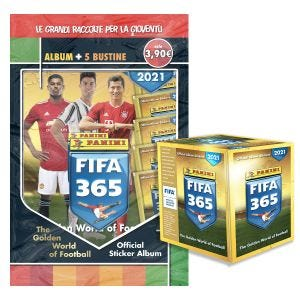 Panini FIFA 365 2021 SUPER STARTER PACK - 1 STARTER PACK + 1 BOX DA 50 BUSTINE