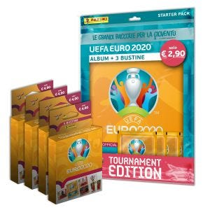 Starter pack UEFA Euro 2020™ Tournament Edition Official Sticker Collection più 4 blister