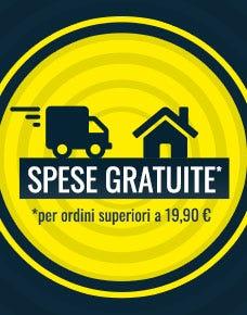 ZERO spese di spedizione se acquisti prodotti per almeno € 19,90